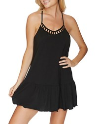 Reef Cove Solids Flounce Dress Black