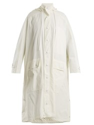 Balenciaga Opera Raincoat White