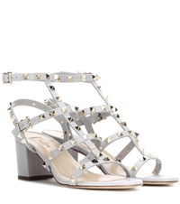 Valentino Rockstud Leather Sandals Blue