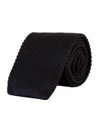 Sandro Knitted Tie Black