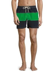 Barbour Colorblock Swim Trunks Fresh Green