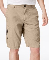 Buffalo David Bitton Men's Herculean Flat Front Shorts Sablee