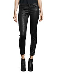 Ag Adriano Goldschmied Leatherette Crinkle Coated Ankle Leggings Black