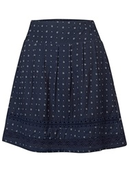Fat Face Matilda Triangle Geo Skirt Navy