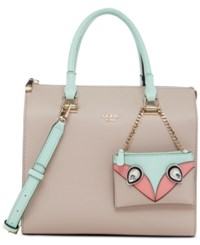 Guess Kizzy Box Satchel Nude