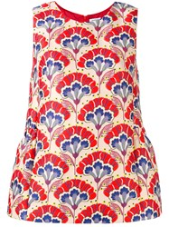 P.A.R.O.S.H. Floral Patterned Top Red