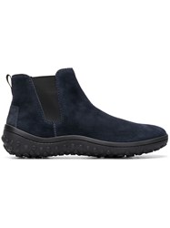 Car Shoe Fitted Ankle Boots Blue