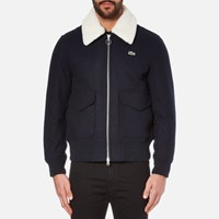 Lacoste L Ve Men's Teddy Jacket With Shearling Collar Navy Blue