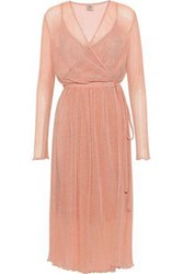 Baum Und Pferdgarten Accassia Point D'esprit Wrap Dress Antique Rose