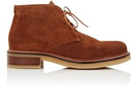 Barneys New York Women's Crepe Sole Suede Desert Boots Brown Yellow Brown Yellow