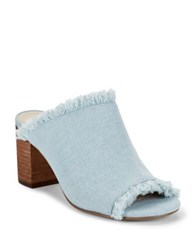 Charles By Charles David Kadia Denim Mules Light Blue Denim