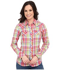 Ariat Austen Snap Shirt White Multi Women's Long Sleeve Button Up