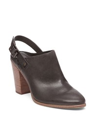 Vince Camuto Leather Shooties With Adjustable Ankle Buckle Brown
