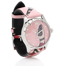 Gucci G Timeless Leather Watch Pink