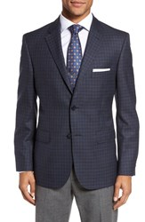Jb Britches 'S Big And Tall Classic Fit Check Wool Sport Coat Blue