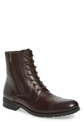 Kenneth Cole Reaction Single Mind Cap Toe Boot Brown