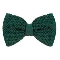 40 Colori Pine Solid Silk Knitted Bow Tie Green