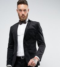 Only And Sons Super Skinny Suit Jacket In Cord Black