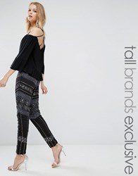 Maya Tall All Over Embellished Legging Black Blue