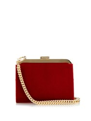 Balmain Gold Plated Frame Velvet Clutch