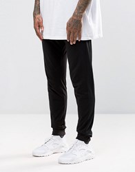 Asos Skinny Joggers With Mesh Side Panels Black