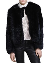 The Kooples Fox Fur Jacket Black