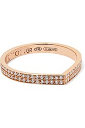 Repossi Antifer 18 Karat Rose Gold Diamond Ring 54