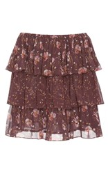 Ulla Johnson Orion Patchwork French Floral Skirt Purple