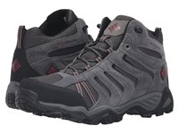 Columbia North Plains Ii Waterproof Mid Dark Grey Garnet Red Men's Waterproof Boots Gray