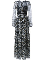 Marco Bologna Leopard Print Maxi Dress Black