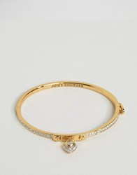 Juicy Couture Pave Heart Fine Bangle Silver