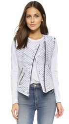 Generation Love Maya Quilted Jacket Bleached Blue