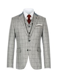 Gibson Men's Grey Pick And Pick Check Jacket Grey
