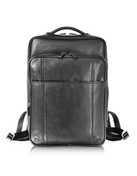 Giorgio Fedon 1919 British Black Leather Backpack