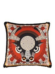 Missoni Buffalo Horoscope Cotton Pillow Multicolor