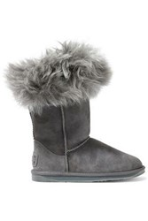 Australia Luxe Collective Woman Foxy Shearling Boots Gray