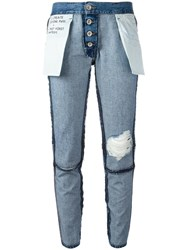 Unravel Project Inside Out Jeans Blue