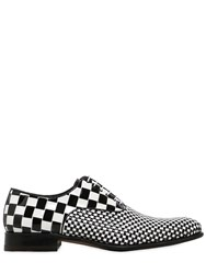 Harris Two Tone Woven Leather Lace Up Shoes