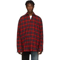 Vetements Reversible Red And Green Oversized Shirt