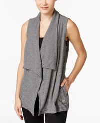 Calvin Klein Performance Striped Draped Vest Black Combo
