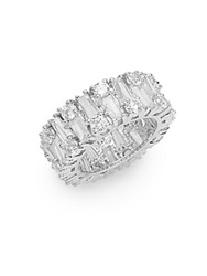 Cz By Kenneth Jay Lane Mixed White Stone Ring