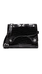 Rachel Comey Croc Embossed Selma Shoulder Bag Black