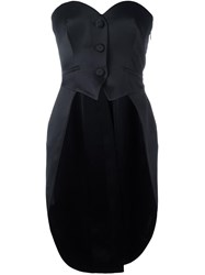 Moschino Tail Coat Bustier Top Black