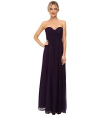 Donna Morgan Laura Long Chiffon Gown Dress Amethyst Women's Dress Purple