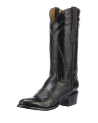 Lucchese Gavin Leather Cowboy Boots Black