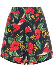 R 13 R13 Hawaiian Floral Print Shorts Blue