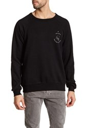 United By Blue Long Sleeve Graphic Print Pullover Black