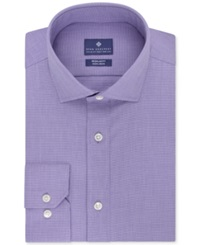Ryan Seacrest Distinction Non Iron Check Dress Shirt Purple