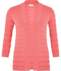 Cc Scallop Detail Edge To Edge Cardigan Coral