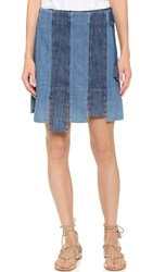 Elle Sasson Belle Skirt Dark Denim Cabana Stripe